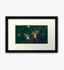 Enterprise Nebula With Outline of the Starships Framed Print