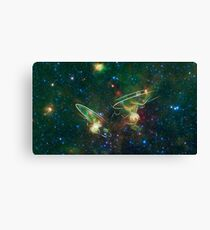 Enterprise Nebula With Outline of the Starships Canvas Print