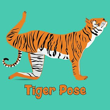 Animal Yoga Tiger Pose by ajparker