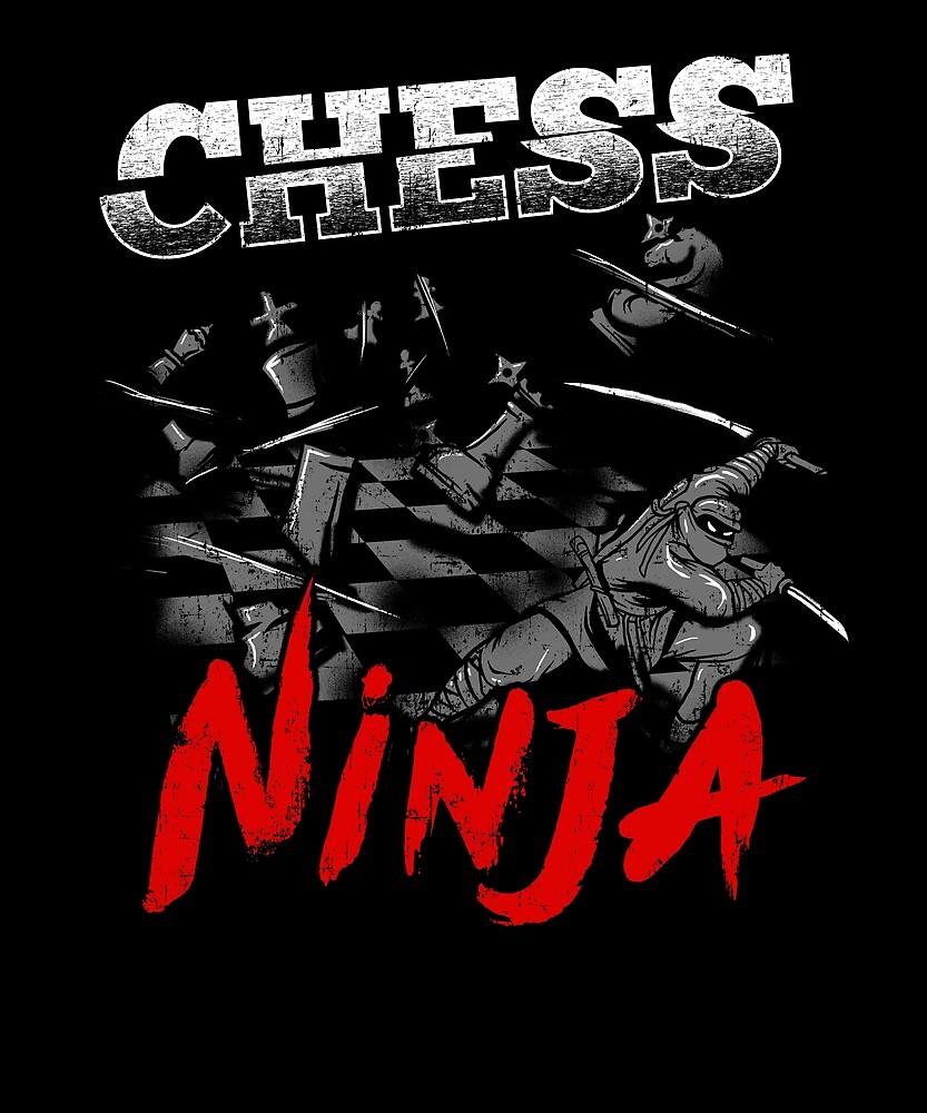 Chess Ninja Awesome Graphic Hobbie by treesak