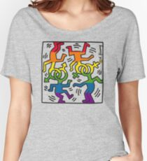 Keith Haring Heritage of pride  rainbow Women's Relaxed Fit T-Shirt