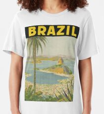 1940s Painting of Brazil Slim Fit T-Shirt