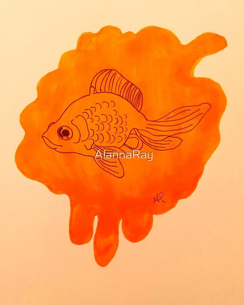 Goldfish Peach Swim  by AlannaRay
