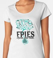 FPIES: Rare But Real - Food Allergy Awareness Tree Women's Premium T-Shirt