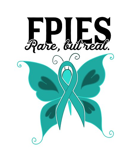 Fpies Rare But Real Food Allergy Awareness Butterfly Posters By