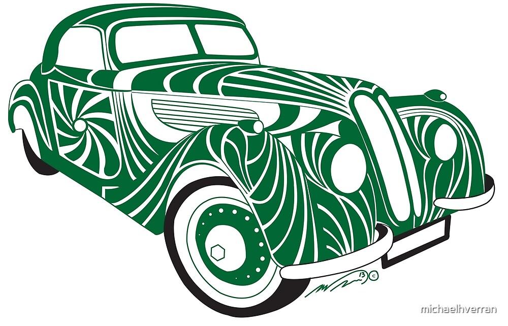 Styalised Car 5 green  by michaelhverran