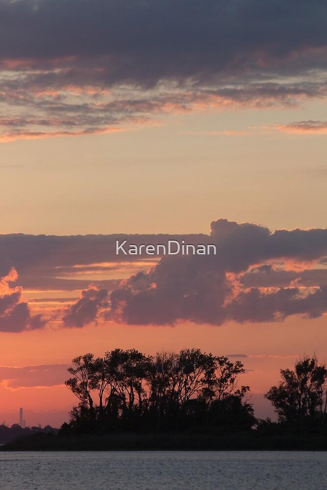 Long Beach, NY Sunset  by KarenDinan