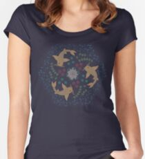 Blue Koi Pond Women's Fitted Scoop T-Shirt