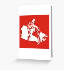 Canada Baseball (Red) Greeting Card