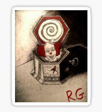 Creepy Clown Music Box Sticker