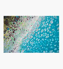 Teal Abstract 1-5 Photographic Print