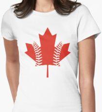 Maple Leaf Baseball Women's Fitted T-Shirt
