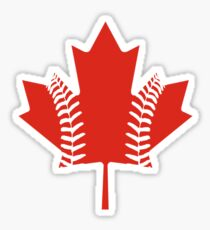 Maple Leaf Baseball Sticker