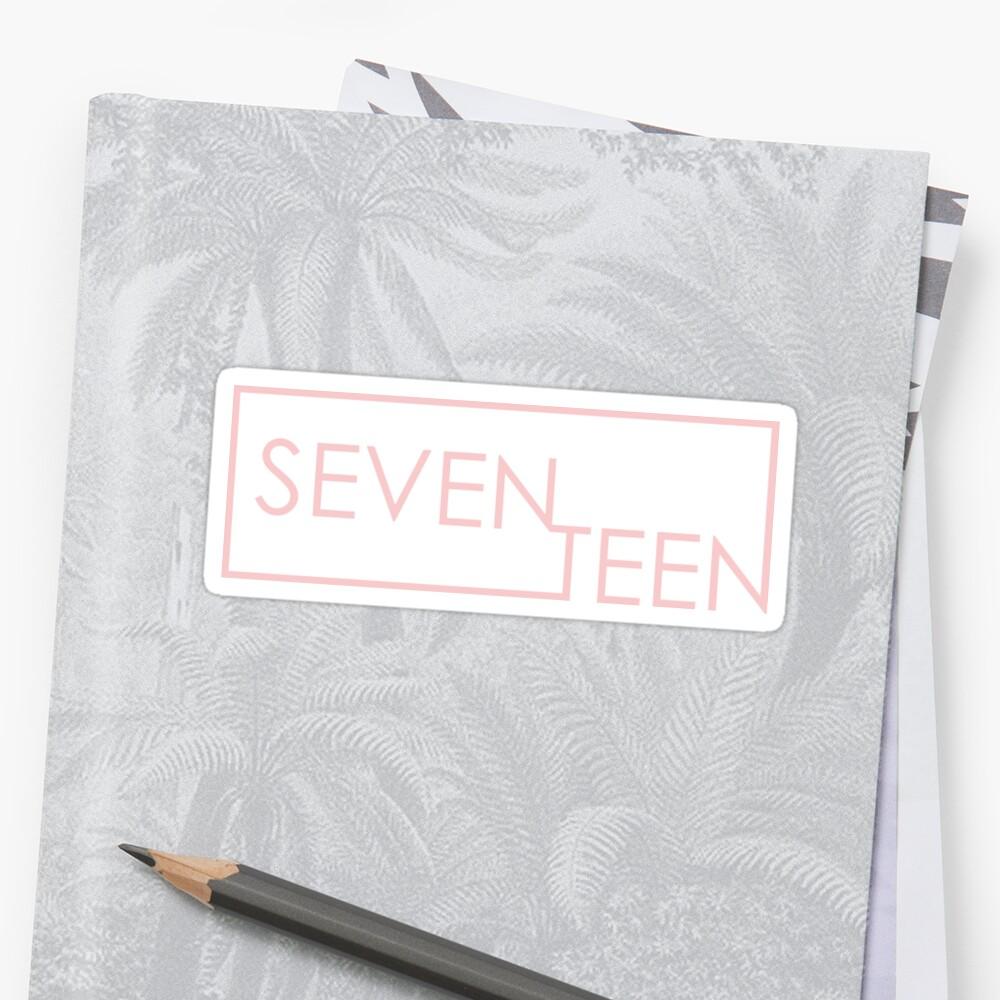 another seventeen sticker: rose quartz  by kyubuns