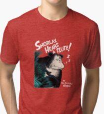 Snorlax Hears a Flute Tri-blend T-Shirt