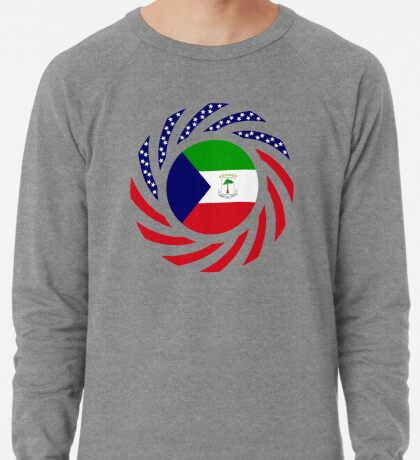 Equatoguinean American Multinational Patriot Flag Series Lightweight Sweatshirt