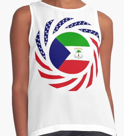 Equatoguinean American Multinational Patriot Flag Series Sleeveless Top