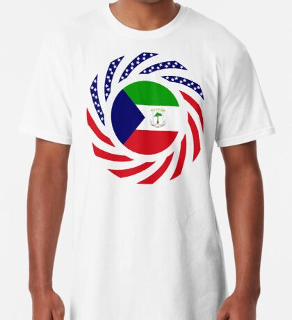 Equatoguinean American Multinational Patriot Flag Series Long T-Shirt