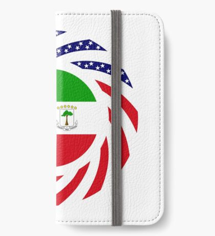 Equatoguinean American Multinational Patriot Flag Series iPhone Wallet