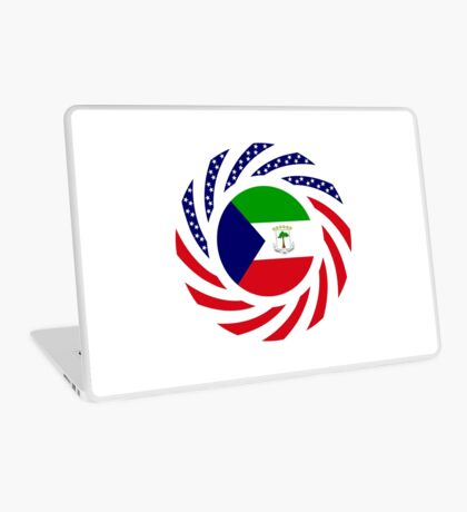 Equatoguinean American Multinational Patriot Flag Series Laptop Skin