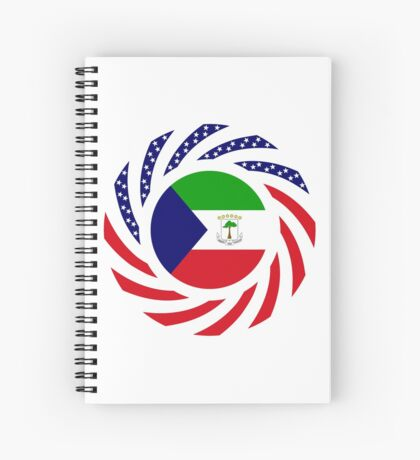 Equatoguinean American Multinational Patriot Flag Series Spiral Notebook
