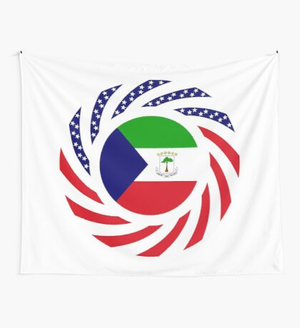 Equatoguinean American Multinational Patriot Flag Series Wall Tapestry