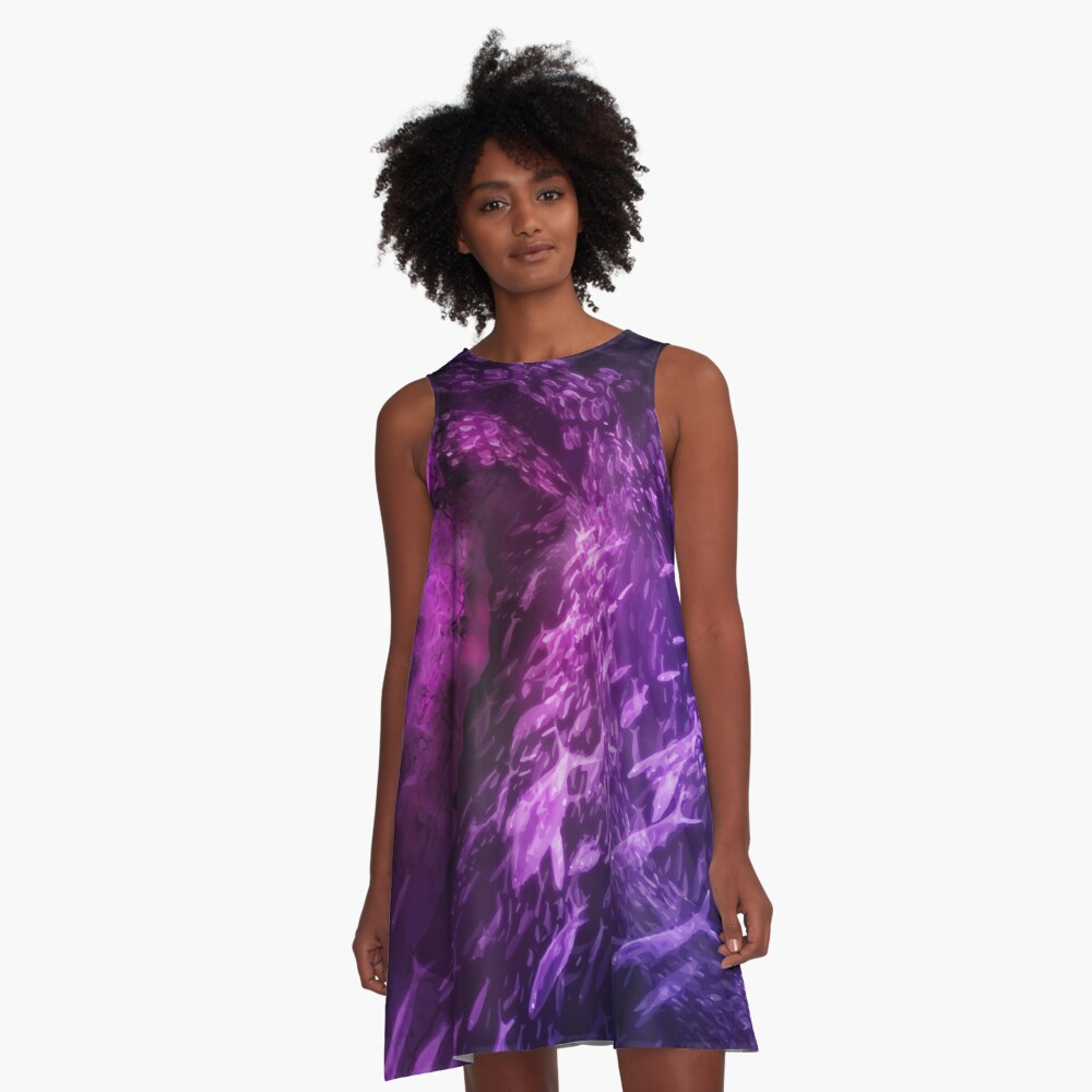 Energy of the Abyss A-Line Dress Front