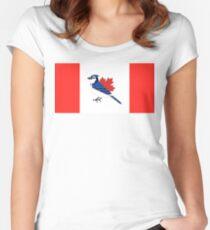 A Blue Bird - Canada Flag Women's Fitted Scoop T-Shirt