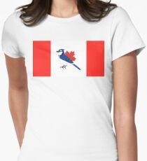 A Blue Bird - Canada Flag Women's Fitted T-Shirt