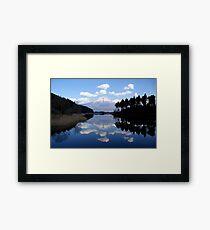 Diamond View - A Fuji Reflection Framed Print