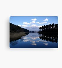 Diamond View - A Fuji Reflection Canvas Print