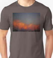 Orange Puffy Cloud  Unisex T-Shirt