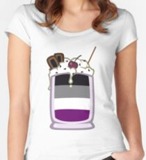 Asexual Ice Cream Sundae Women's Fitted Scoop T-Shirt
