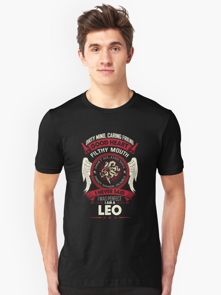 Leo Tshirt Birthday Shirt For Men Women Best Gifts Slim Fit T