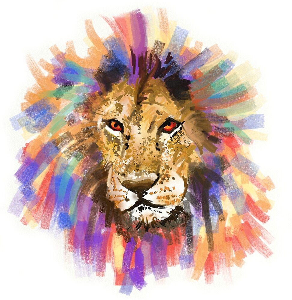 Colorful Lion Mane by unityheroes