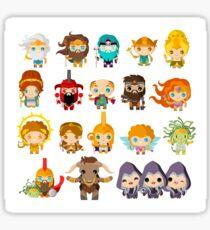 gods and mythological creatures from greek and roman mythology Sticker