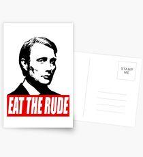EAT THE RUDE - Hannibal Postcards