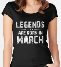 MARCH MEN BIRTHDAY BORN LEGEND GIFT Women's Fitted Scoop T-Shirt