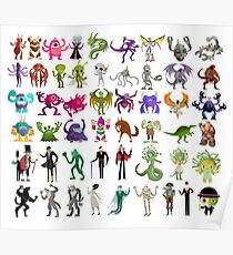 monsters creatures collection Poster