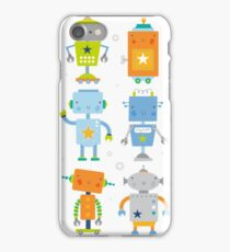 Robot Buddies by The Ink House iPhone Case/Skin