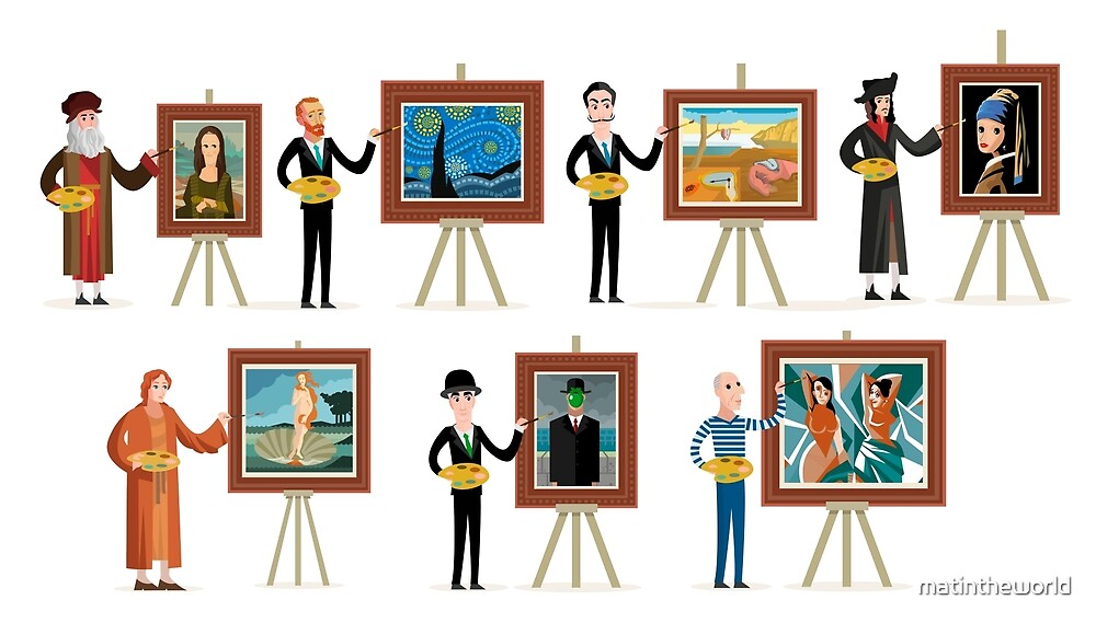 great seven painters of history by matintheworld