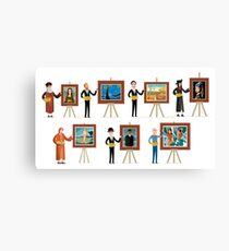 great seven painters of history Canvas Print