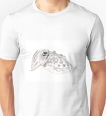 Red cuttlefish ink drawing - Sepia mestus Unisex T-Shirt
