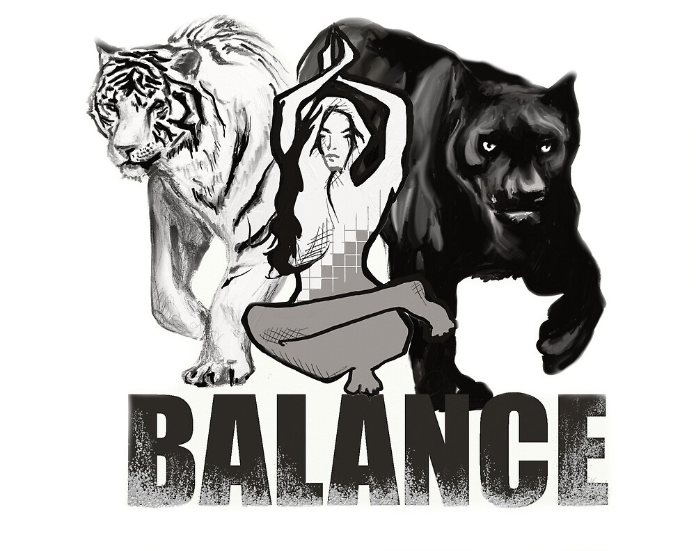 Balance White Tiger and Black Panther by unityheroes