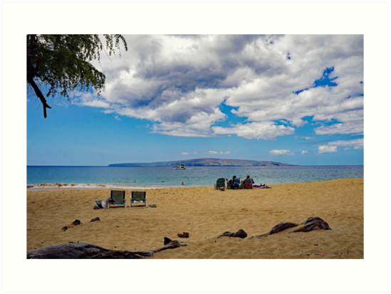 A Sunny Day on a Beach in Maui by Maurine Huang