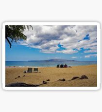 A Sunny Day on a Beach in Maui Sticker