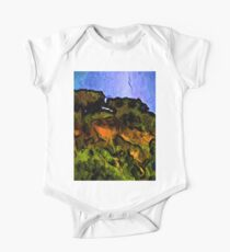 Trees on a Cliff Edge One Piece - Short Sleeve