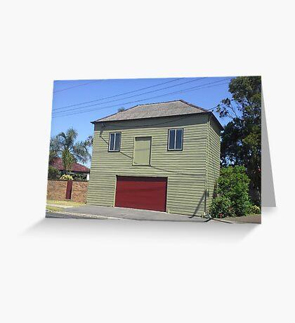 Smiling Garage, Newcastle NSW Australia Greeting Card