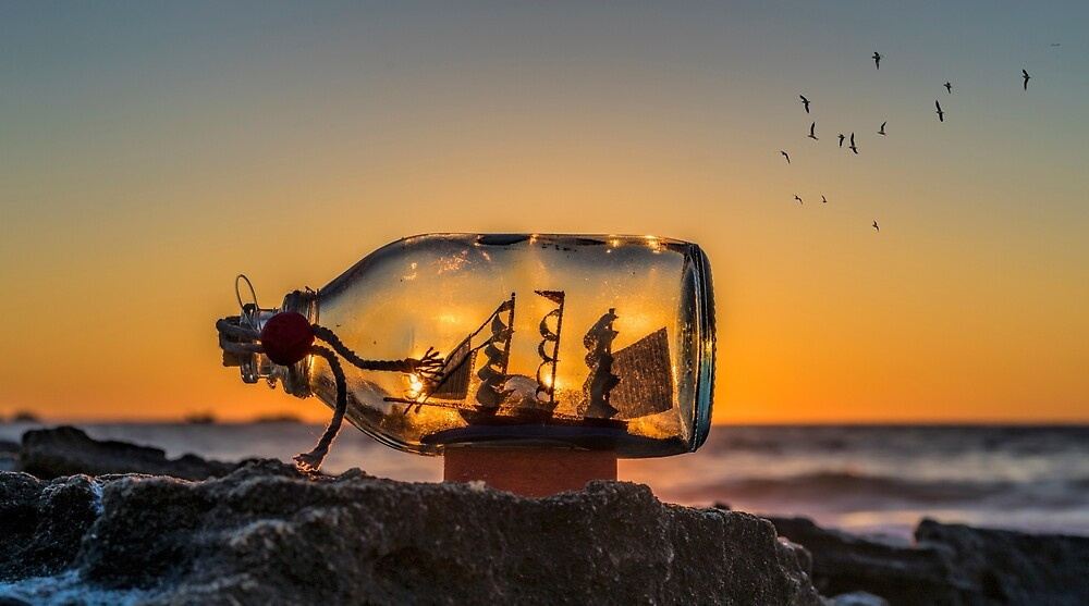 Sunset in a Bottle by Ladyshark
