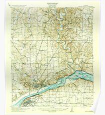 USGS TOPO Map Alabama AL Muscle Shoals 305649 1916 62500 Poster